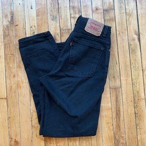 Washed Black Vintage Levi's 550 Jeans